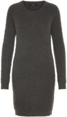 VERO MODA Long Sleeved Knitted Dress Women Grey