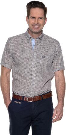 Afbeelding van Beige Campbell Casual shirt met korte mouwen