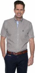 Beige Campbell Casual shirt met korte mouwen