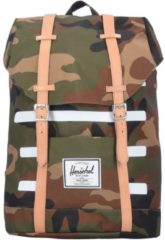 Retreat 17 I Rucksack 42 cm Laptopfach Herschel woodland camo stripe veggie tan leather