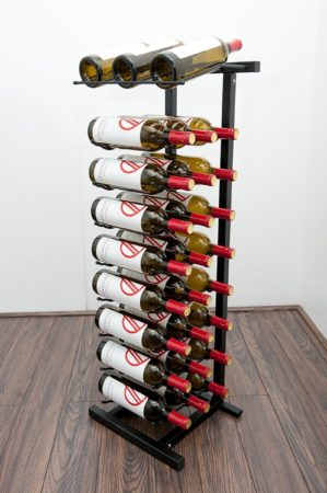 Afbeelding van VintageView Wpop Wijnrek - 100 cm hoog - Zwart - 27 flessen