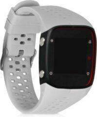 Kwmobile horlogeband voor Polar M400 / M430 - siliconen armband voor fitnesstracker - grijs