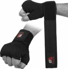 Zwarte Belicon Wears Netherlands Inner Gloves / Binnenhandschoenen | Katoenen handschoen en halfverband | Meerdere kleuren | Vuist- en duimbeschermer voor boksen Sparring Muay Thai Kickboxing MMA Martial Arts en Fight Training - Maat : Small