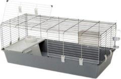 Ferplast Konijnenkooi Rabbit - Dierenverblijf - 118x58.5x51.5 cm Grijs 120