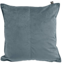 Overseas Middlestitch Velours Kussen Cool Grey 45 x 45 cm