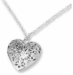 MRLK® Zilveren hart medaillon - mooie hart ketting - medaillon hart - sieraad cadeau vrouw - verjaarsgeschenk vriendin