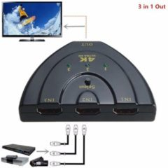 Zwarte Giftwebshop HDMI Switch Splitter 3 Poorts HDTV 1080P tot 4K Ultra Hd Resolutie