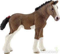 Bruine Schleich Clydesdale veulen 13810 - Paard Speelfiguur - Farm World - 8,3 x 3,7 x 7,9 cm