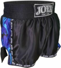 Joya Kickboks Sportbroek - Maat S - Unisex - zwart/blauw/wit