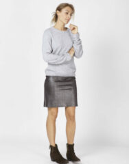 Moscow Fw18-13.01 skirt dark silver zilver