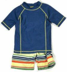 Blauwe Cabana Life Zwemveiligheid UV badpak Multistripe | Maat 122cm