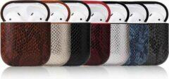 Blauwe Writing Girl Sexy Snake Skin Case Voor Apple Airpods Bluetooth -> Draadloze Oortelefoon