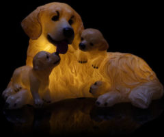 Flambiance LED-Golden Retriver Famile