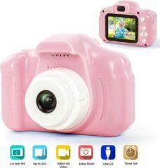 DrPhone Pixel Light Digitale Kindercamera voor Kids -1080P FHD met 2 inch IPS-scherm en 8 GB SD-kaart voor 3-10 jaar – Roze