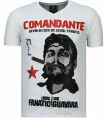 Local Fanatic Che Guevara Comandante - Rhinestone T-shirt - Wit Che Guevara Comandante - Rhinestone T-shirt - Zwart Heren T-shirt Maat XL