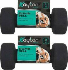Kaytan 2x Dumbbells - set van 2kg - Dumbbell - Gewichten - Halterset - Zwart - professioneel - thuis gym- adjustable - stay fit
