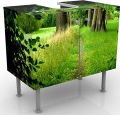 PPS. Imaging Waschbeckenunterschrank - Verborgene Lichtung - Badschrank Grün