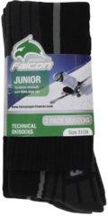 Zwarte Falcon Max skisokken 2-pack zwart kinderen