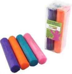 4x Gekleurde fantasie klei rollen 100 gram creatief speelgoed voor kinderen - Creatief speelgoed - Knutselen - Knutselmateriaal - Kleien