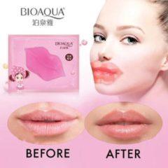 Roze Luxury Pink BIOAQUA Lipmasker - Collageen lipmasker - Hydraterende lippenmasker - vollere lippen - verzorgend en verzachtend - Lip masker