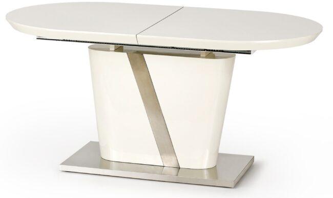 Afbeelding van Home Style Uitschuifbare eettafel Iberis 160 tot 200 cm breed in creme met grijs
