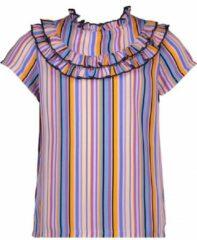NONO Meisjes blouses NONO Tyuna ss blouse with fancy frill de Light Porcelaine 134/140
