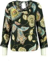 Signe nature soepele blouse met kant 7/8e mouw - Maat 38