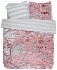 Roze Cover & Co Covers & Co Paris CityMap - Dekbedovertrek - Lits-jumeaux - 240x200/220 cm + 2 kussenslopen 60x70 cm - Multi kleur