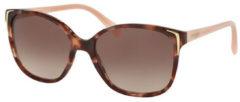 Roze Prada PR01OS Zonnebrillen Spotted Brown / Pink UE00A6 55mm