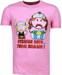 Roze T-shirt Korte Mouw Mascherano Romans - T-shirt