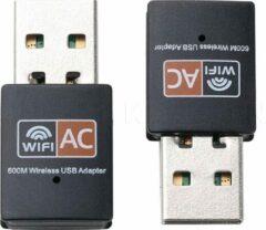 Zwarte Draadloze WiFi Adapter Kebidu USB 600 Mbps Band 2.4 + 5.8 Ghz 802.11ac Wi-fi Antenne PC Netwerkkaart Dual Band Lan Ethernet Ontvanger