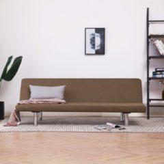 VidaXL Slaapbank polyester bruin