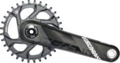 SRAM 00.6118.421.000 KurbelgarniturDescendant Boost BB30 170mm,32Z ohne Innenlager, Carbon, Direct Mount, schwarz/grau (1 Set)
