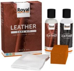 Transparante Oranje Furniture Care Oranje Leather Care Kit Wax en Oil (2x 150ml)
