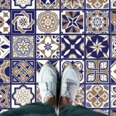 Blauwe Walplus Royal - Home Decoratie Sticker - Vloersticker/Wandsticker - 120x60 cm