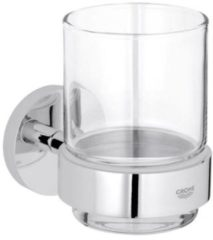 Grohe Essentials glashouder, messing, chroom, (hxd) 99x106mm oppervlaktebescherming