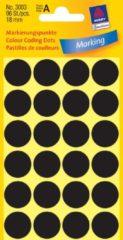 Avery-Zweckform 3003 Etiketten à 18 mm Papier Zwart 96 stuks Permanent Etiketten voor markeringspunten