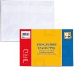Soho Envelop C6 Papier 11,4 X 16,2 Cm Wit 50 Stuks