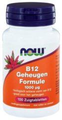 Now Foods NOW Vitamine B12 geheugenformule 1000 mcg 100 Zuigtabletten
