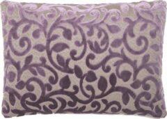 Paarse A&E Originals - Kussen Flower Purple rechthoekig - 50 x 70 cm