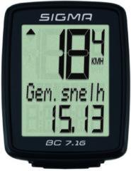 Sigma Sport Sigma BC 7.16 Fietscomputer - 7 functies - Bedraad - Zwart