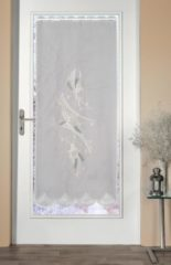 Türvorhang »Türstores Sterne«, Stickereien Plauen, Durchzuglöcher (1 Stück), veredelt mit echter Plauener Spitze Stickerei