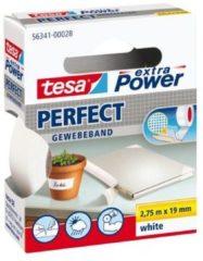 Tesa 56341-00028-02 Textieltape tesa Extra Power Wit (l x b) 2.75 m x 19 mm 1 rollen