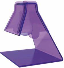 Vesta Lampada Abat -Jour in plexiglass trasparente modello 20x17xh21 cm - 40 W -E 14 BULB viola
