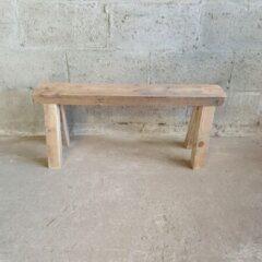 Bruine Maikku Oud houten bankje 80cm
