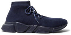 Balenciaga Speed Sock Stretch-knit Sneakers - Navy