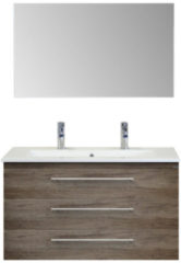 Badkamermeubelset Sanicare Q15 3 Laden Truffel (spiegel optioneel)