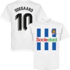 Retake Real Sociedad Odegaard 10 Team T-Shirt - Wit - S