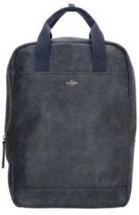 Charm London Farringdon Laptop Rugzak blauw backpack