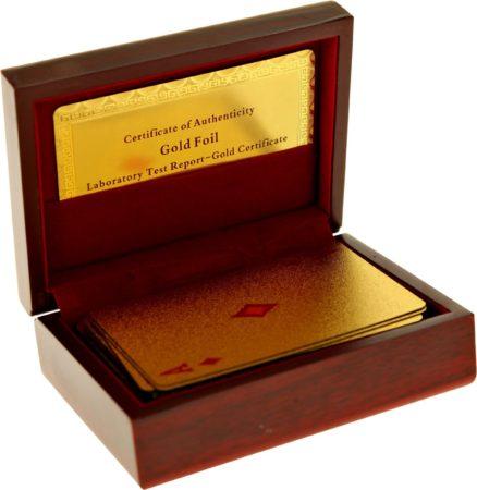 Afbeelding van United Entertainment - Gouden Speelkaarten met Luxe Bewaardoos
